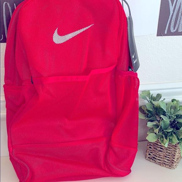 NWT. Nike mesh pink full size back pack